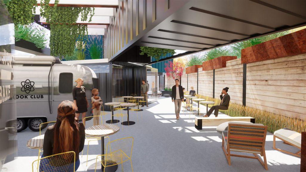 Indoor/Outdoor Cafe Area
