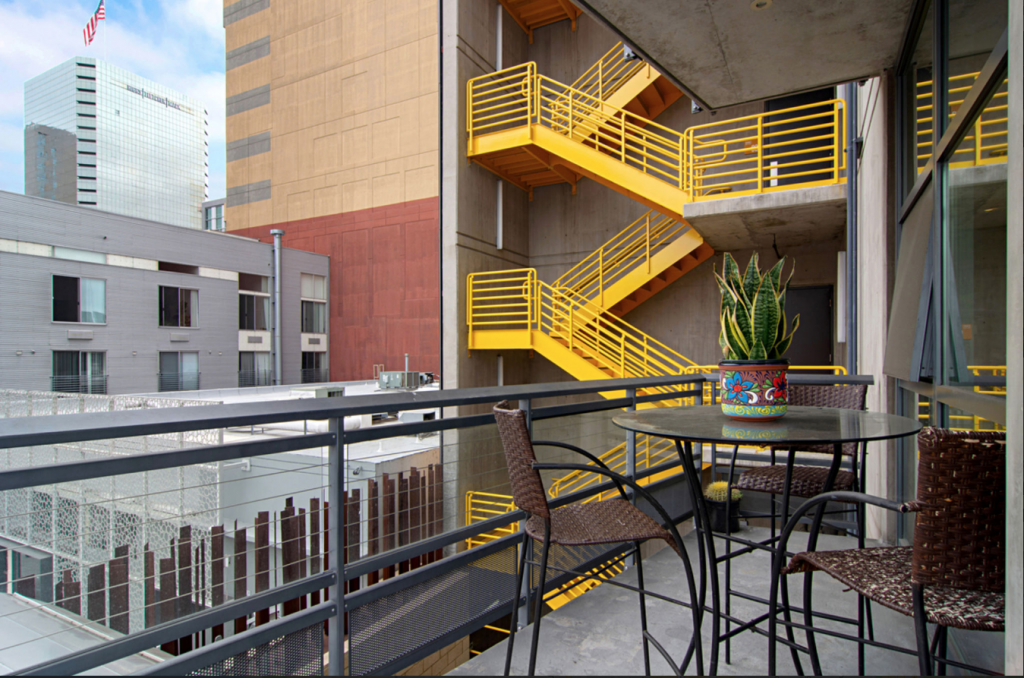 Fire Escape and Steel Grass Feature Treatment