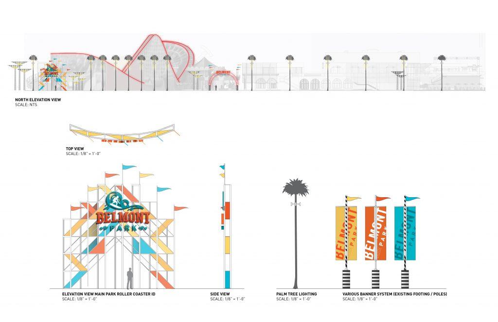 Belmont Park Midway Concept Elevations