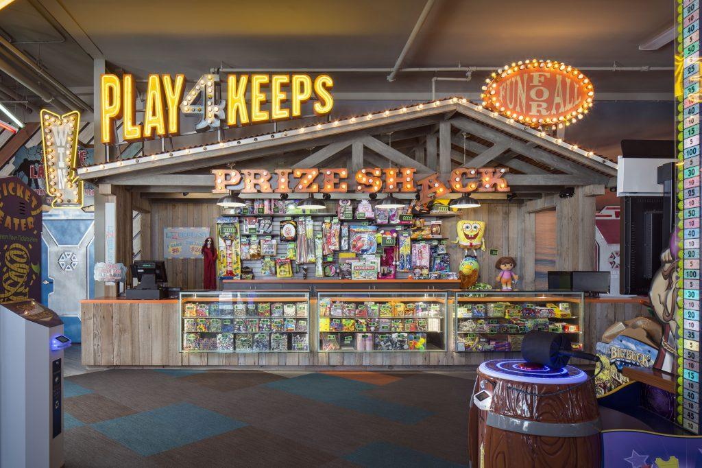 Belmont Park Arcade Interior Prize Shack