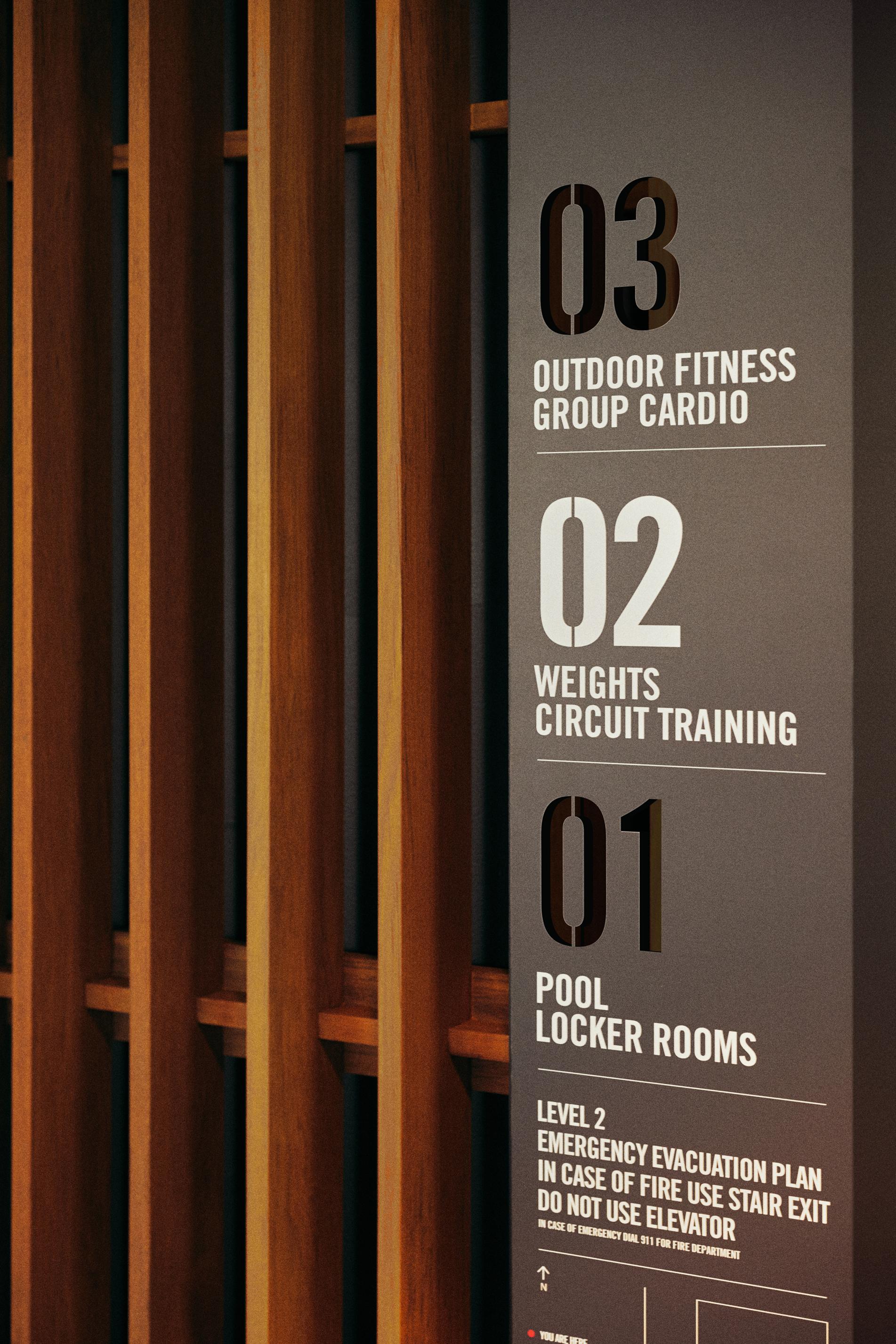 Fit Elevator Signage Detail