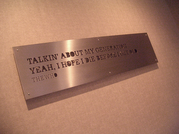 Stainless Steel Lyric Panel