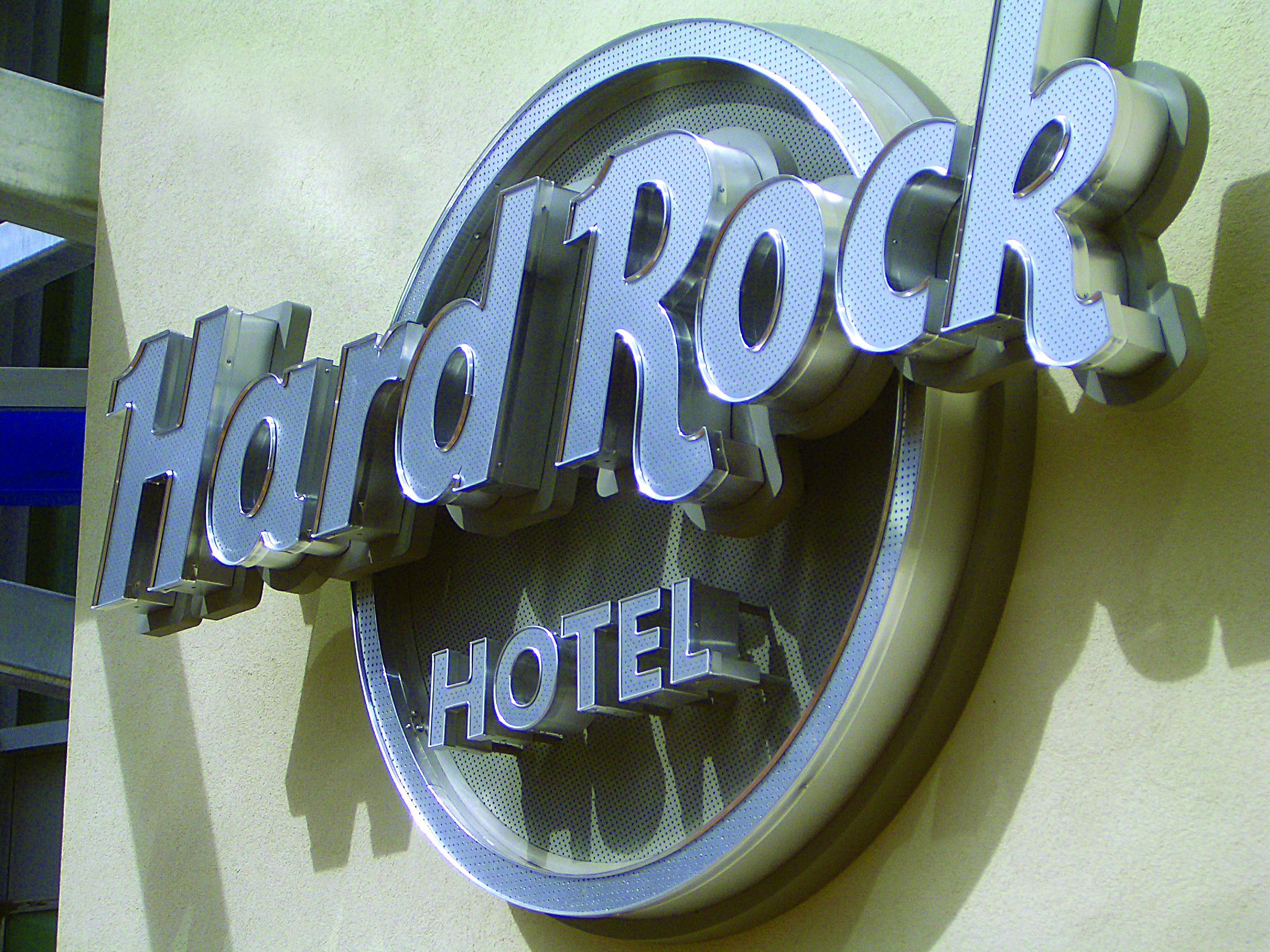Hard Rock Hotel Wall Entry Sign