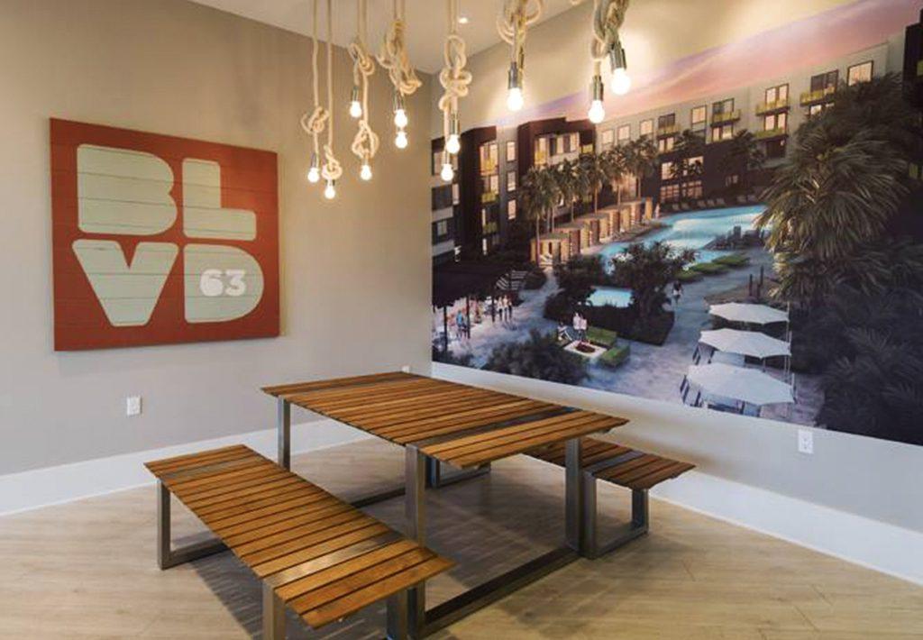 BLVD63 Leasing Office Wall Art