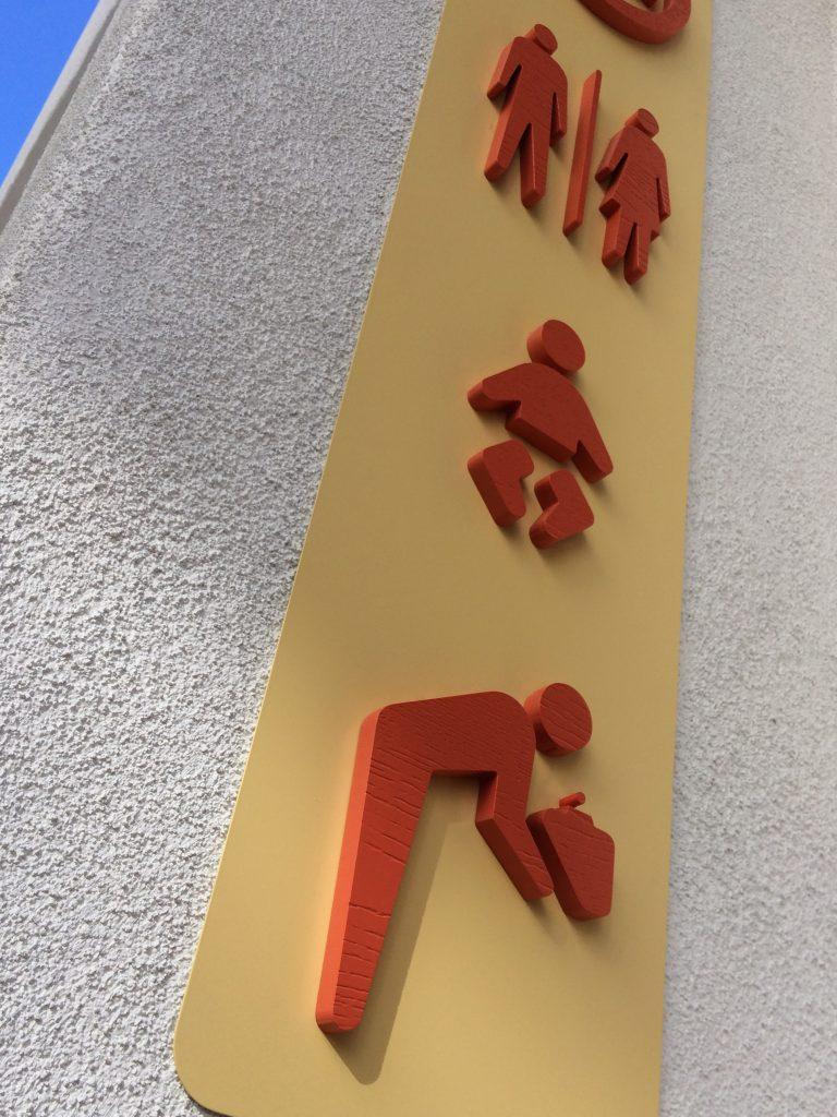 Belmont Park Restroom Sign