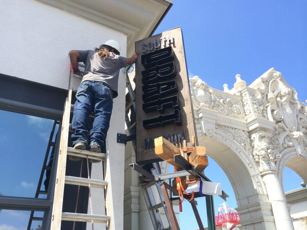 Belmont Park Draft Restaurant Signage Installation