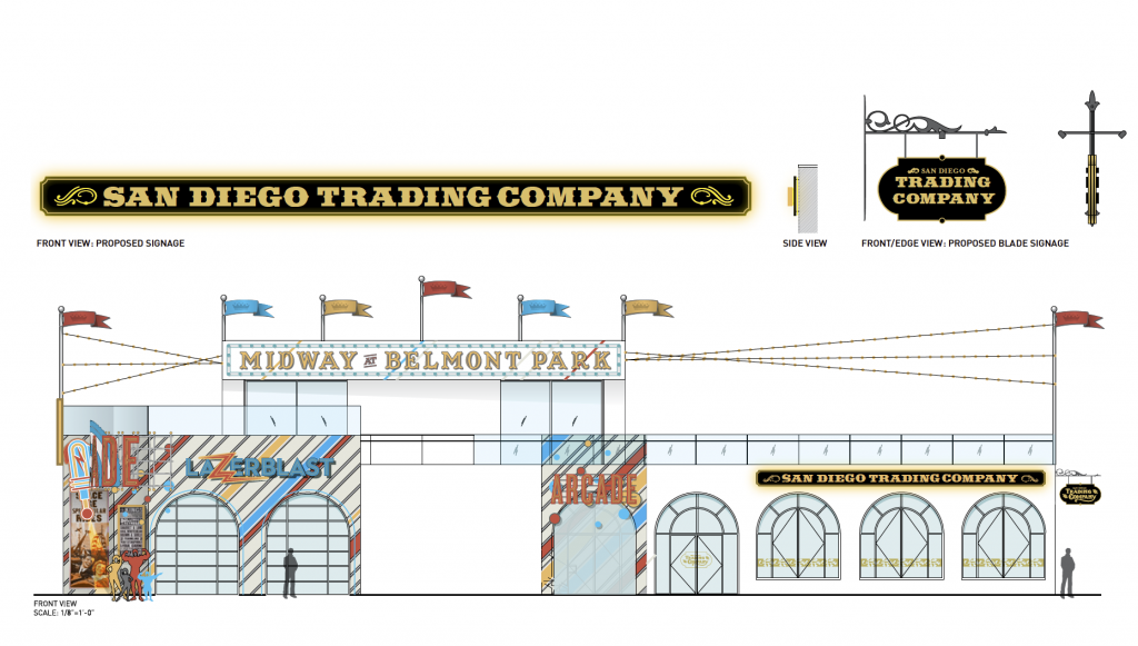 San Diego Trading Company Exterior Elevation