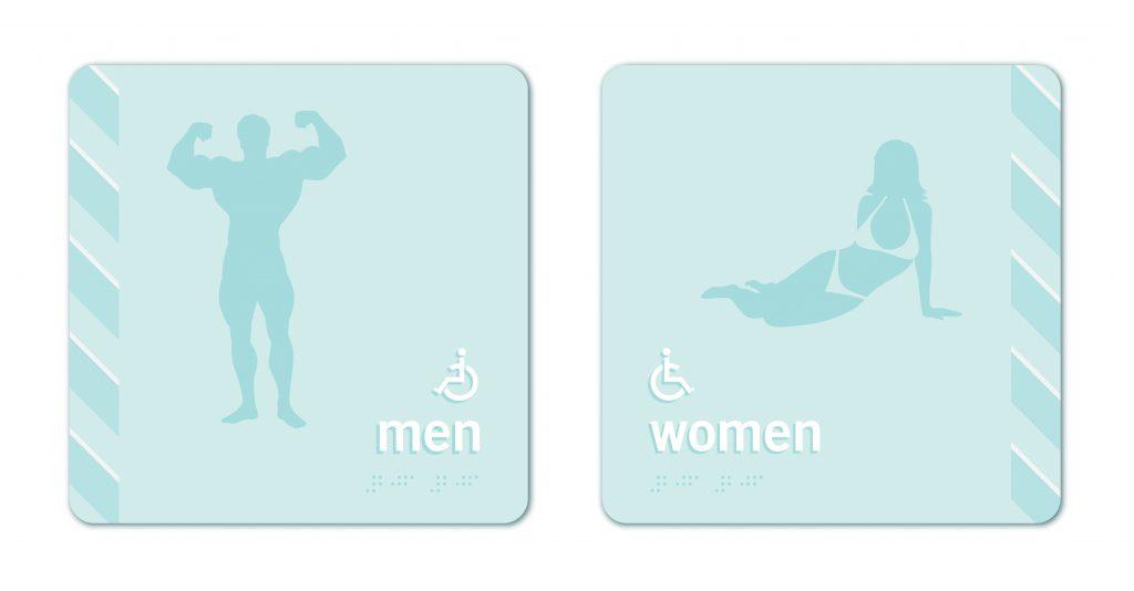 TOWER23 Restroom Signage