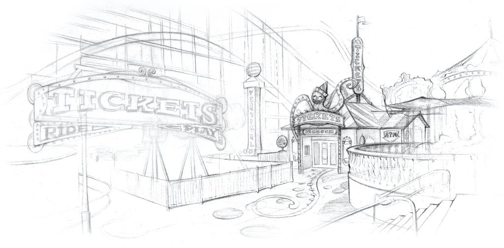 Belmont Midway Concept Sketch